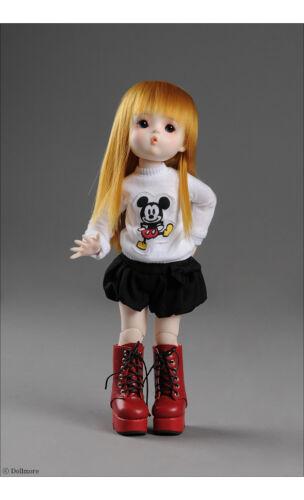 T-shirts Mikiti White Dollmore 1//6 BJD Yosd Size Dear Doll Size