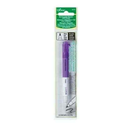 Clover Air Erasable Marker with Eraser Purple Fine
