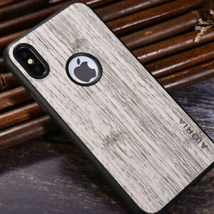 Case-for-iPhone-x-xs-7-8-6-6S-Plus-Vintage-Bamboo-Pattern-leather-silicone-cover