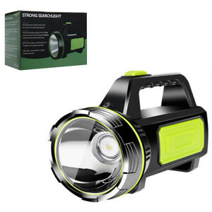 Powerful Spotlight Hand Lamp 2 Modes Xenon LED Work Light Torch USB Rechargeable