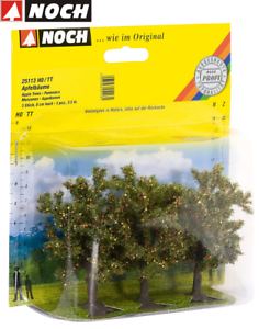 NOCH-25113-Apple-Trees-8-CM-High-3-Piece-New-Boxed