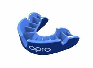 OPRO Mouth Guard Gen4 Silver Level Black Red Gum Shield Boxing Rugby FREE CASE