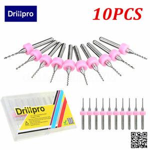 Drillpro-10pcs-1mm-End-Mill-Foret-Fraise-Perceuse-Carbure-Acier-CNC-PCB-Gravure