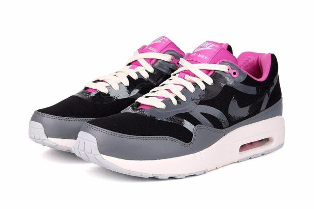 Nike Air Max 1 CMFT PRM TAPE Wmn Sz 7 BlackCool Grey Club Pink Sail 599895 006
