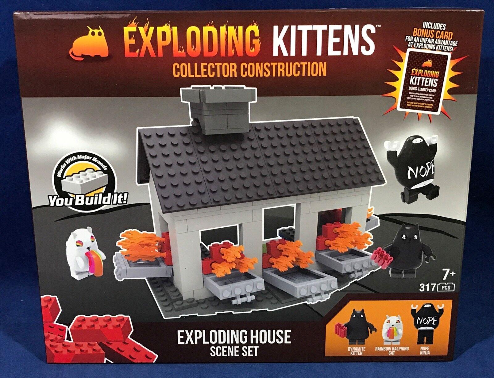 EXPLODING KITTENS Building C3 Construction Set HOUSE SCENE Minifigure NOPE NINJA