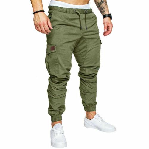 Herren Jogger Cargo Hose Sports Chino Jogging Jeans Arbeits Sweathose Sweatpants