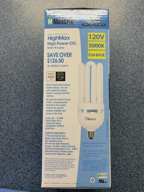 Maxlite Highmax High Power Cfl Compact Fluorescent 60w