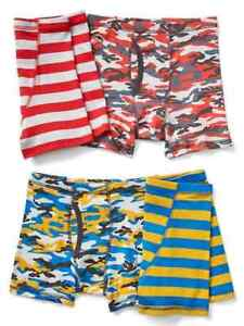 60ea5f31e17 New Gap Kids Boys 4 Pack Boxer Briefs Underwear 6 7 8 10 12 14 NWT ...