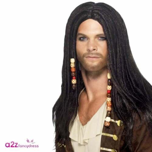 Da Uomo Costume da Pirata Jack Sparrow Bucaniere adulto Alto Mare Capitano Costume
