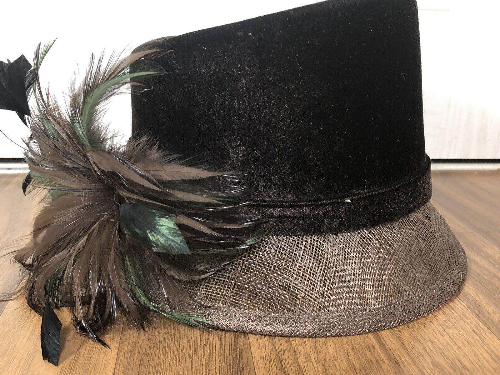 Ladies Formal Wedding Mother Bride Races Brown Hat