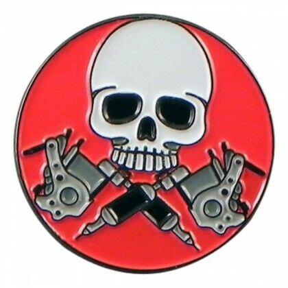 Calavera y pistolas Insignia Pin de solapa de esmalte después Pirata Rock Club Regalo De Navidad
