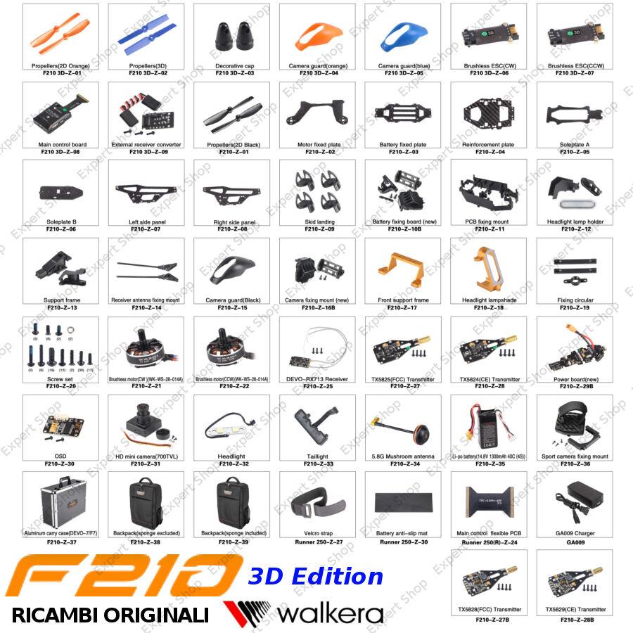 Garanzia di vestibilità al 100% Ricambi DRONE WALKERA F210 3D fibra autobonio autobonio autobonio eliche batteria telecamera motori ESC  miglior reputazione