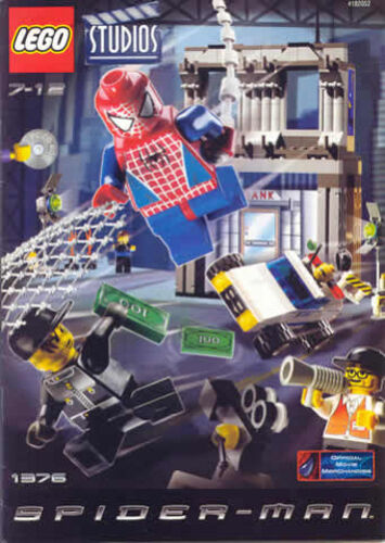 Instructions LEGO SPIDERMAN 1376 SpiderMan Action Studio INSTRUCTIONS ONLY