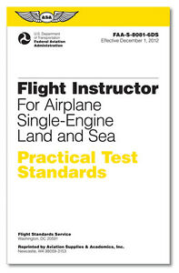 NEW ASA Practical Test Standards: CFI - Single-Engine | ASA-8081-6DS