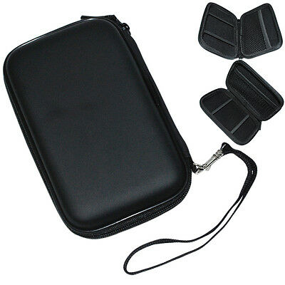 "Black Pouch Bag WD Passport Essential 2.5"" Hard Disk Drive HDD Zipper Case New"