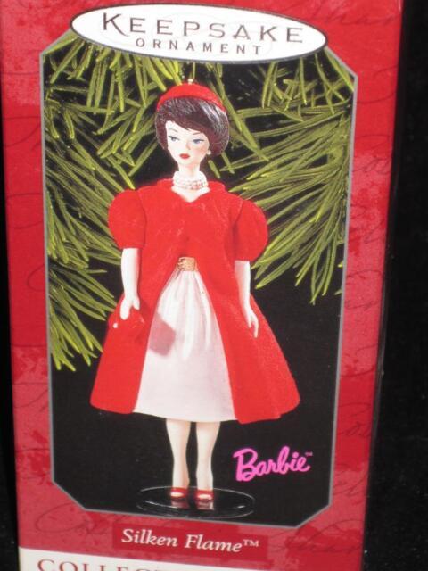 1998 Barbie SILKEN FLAME Ornament Hallmark NRFB