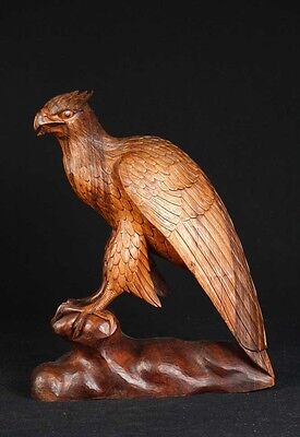 Antiques Discreet French Hand Carved Falcon Bird Statue Sculpture 2019 New Fashion Style Online