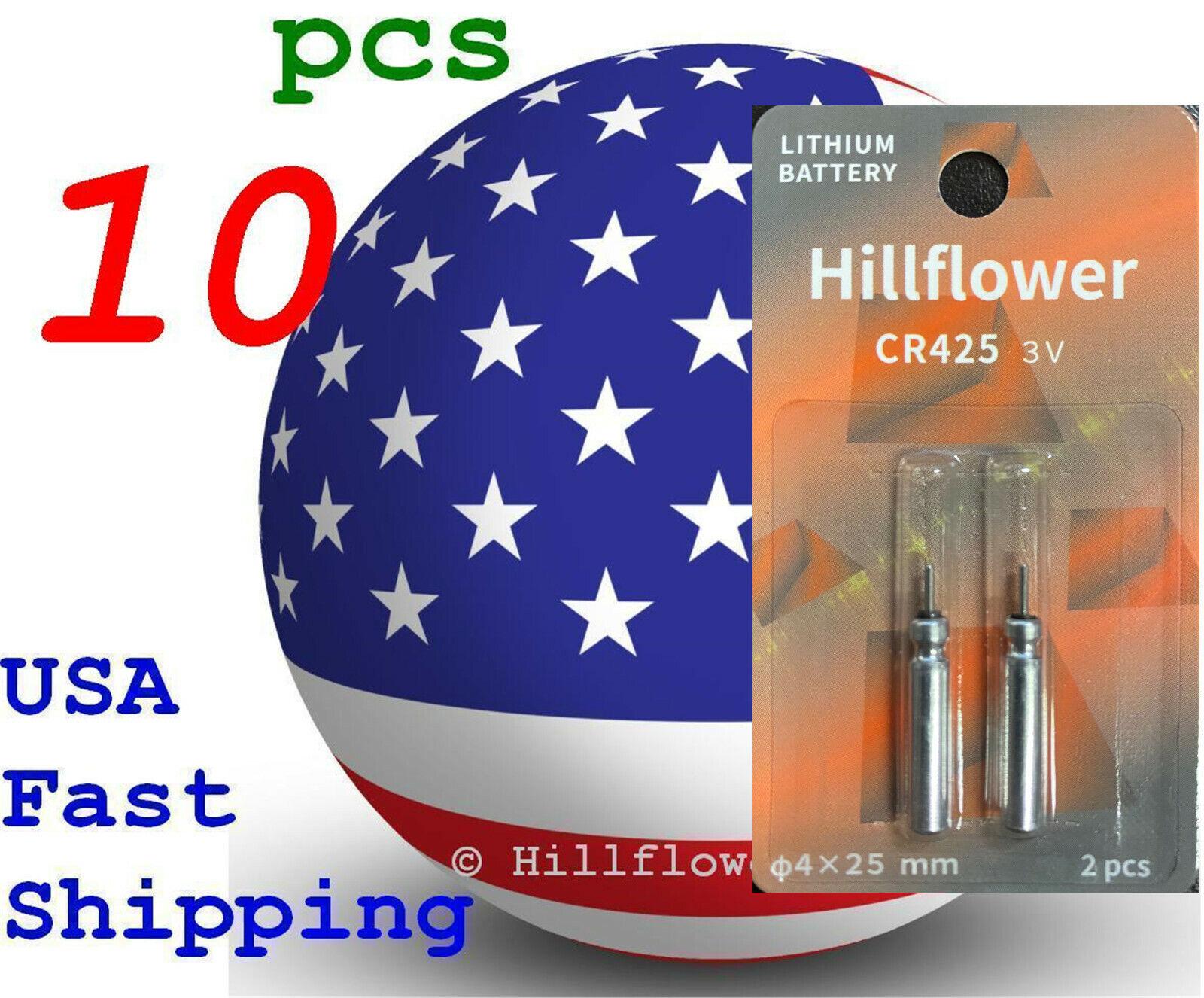 10 pcs CR425 425 LM425 BR425 Card 3V Hillflower Fishing Lithium Battery