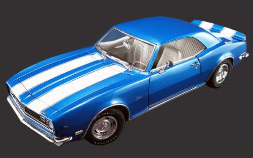1968 z   28 camaro chevy lemans Blau druckguss auto acme 1,18 vintage selten gmp