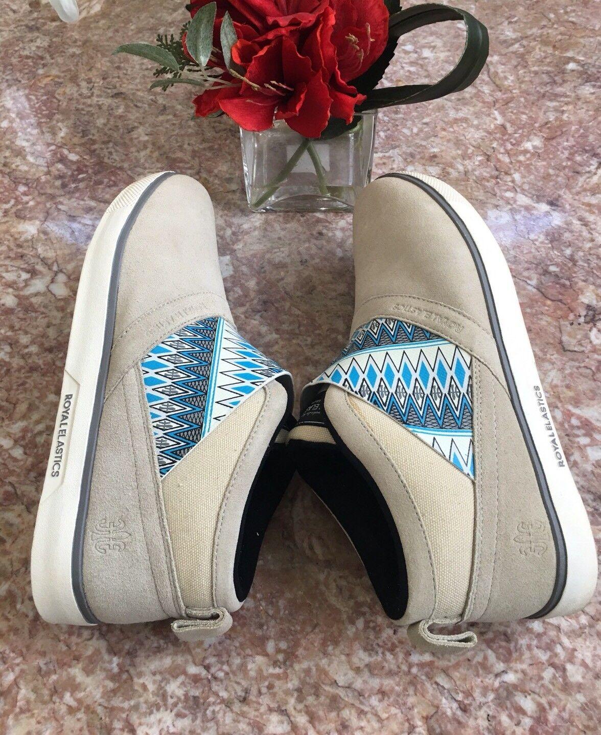 Royal Elastics Grau Men Cavell Hi Fashion Sneaker, Rainy Day/ Steeple Grau Elastics US 12 EUC 0c38a3