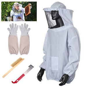 Beekeepers Schutzanzug Imkerjacke Hut Schleier Handschuhe Kleidung Landwirtschaf