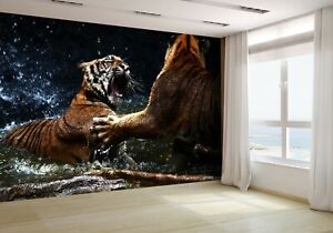 Tiger-Attack-to-Other-Tiger-Wallpaper-Mural-Photo-6903984-budget-paper