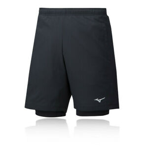 Mizuno-Mens-Impulse-7-5-2in1-Shorts-Pants-Trousers-Bottoms-Black-Sports-Gym