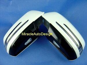 Arrow Led Door Mirror White Covers Set For 2007 2009 Mercedes Benz W204 C Class Ebay