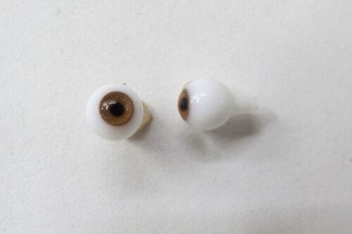 Yeux  poupée ancienne Noisette  7 mm  Hazel mouth blown eyes for antique doll