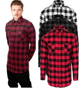 Urban Classics Men s Extra Long Flannel Check Shirt Wood Chopper ... 2ba93de0486