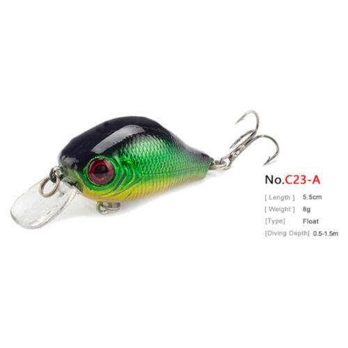 5.5cm 8g crankbait hard bait tackle artificial lures swimbait fish wobbler n 2