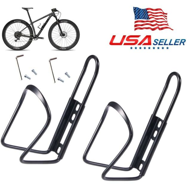 2 PCS Cycling Bike Bottle Cage Water Cup Holder For MTB Bicycle Rack Bracket US