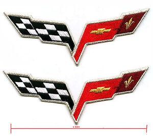 CHEVROLET CORVETTE Aufnäher Aufbügler Patches Auto cars Sportwagen V8 USA v3