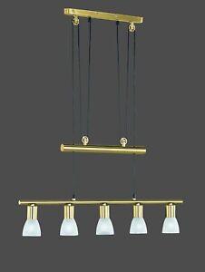 Elegante-Pendelleuchte-Messing-5-x-Gu10-LED-moeglich-Austellungsstueck