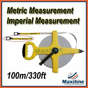 100M-Tape-Measure-330FT-Open-Reel-Measuring-Tools-Hand-Tools-Trade-Quality