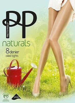 Spirited Pretty Polly The Naturals Oiled Tights Style Pmapa7 Clothing, Shoes & Accessories