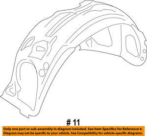Lincoln FORD OEM 13-15 MKS-Front Fender Liner Splash Shield Left DA5Z16103A
