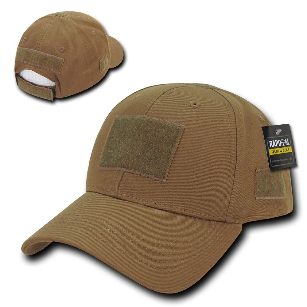 Details about Solid Coyote Brown Tactical Operator Low Crown Contractor  Military Patch Cap Hat