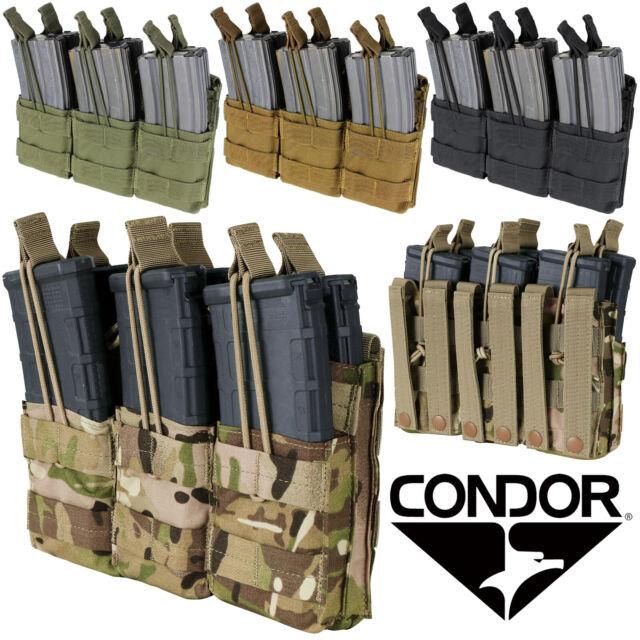 Condor MA72 OD Green MOLLE Triple Kangaroo 7.62 Rifle//Pistol Magazine Mag Pouch