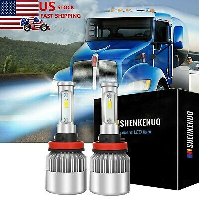 H11 90W LED Conversion Bulb Low Beam Light System 6000K for Kenworth T680 T880