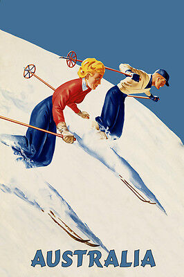 1940s Finland Skiing Winter Sports 1949 Ski Resort Vintage Travel Poster 16x24