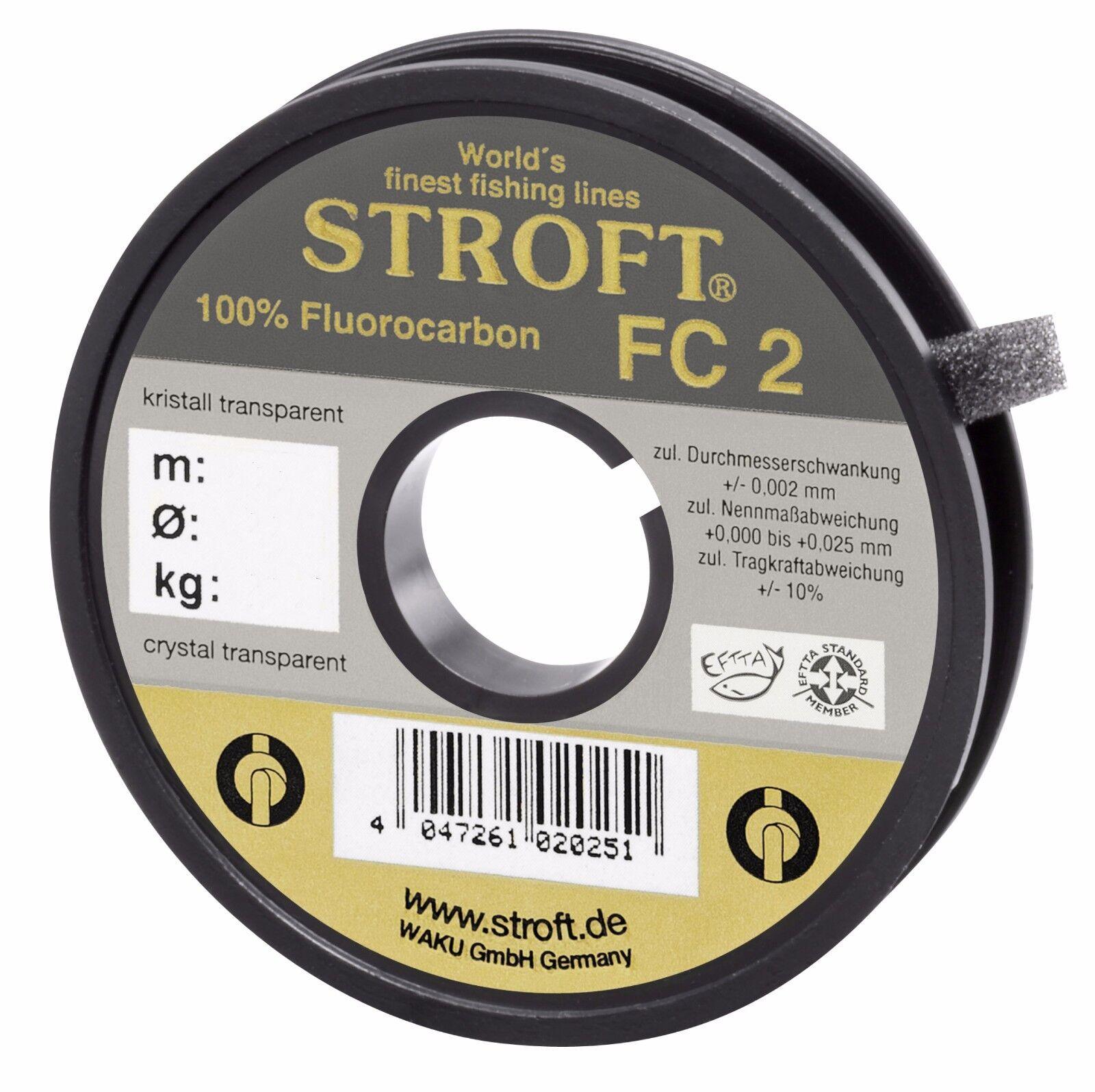 Angelschnur STROFT FC2 FluGoldcarbon Vorfach Tippet Schnur 25m 50m 100m Spulen FC  | Bekannt für seine schöne Qualität