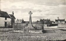 Holy Island. St Cuthbert's Cross by Valentine's.