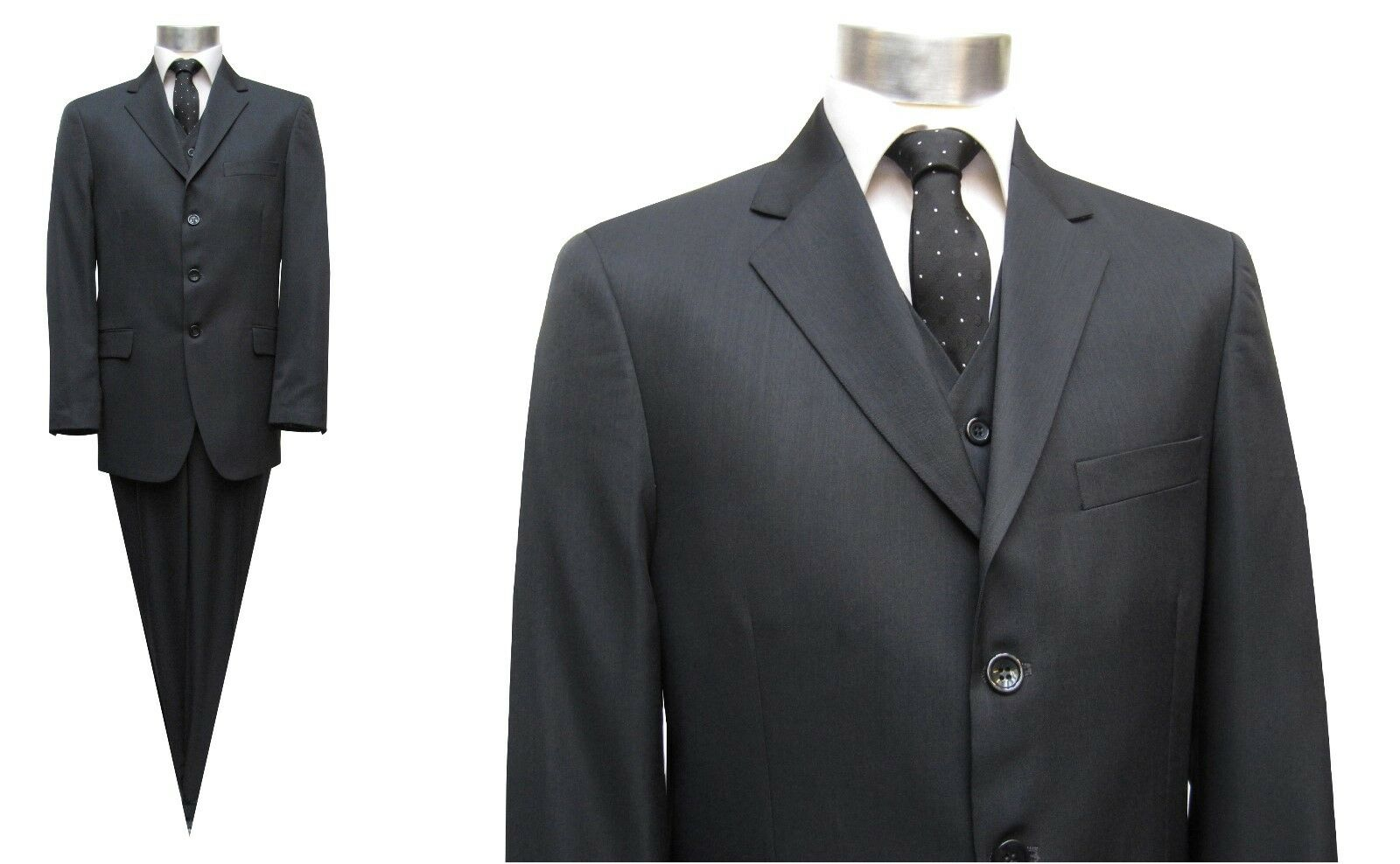 Herren Anzug mit Weste Muga Gr.50 Anthrazit