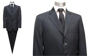 Herren-Anzug-mit-Weste-Muga-Gr-60-Anthrazit