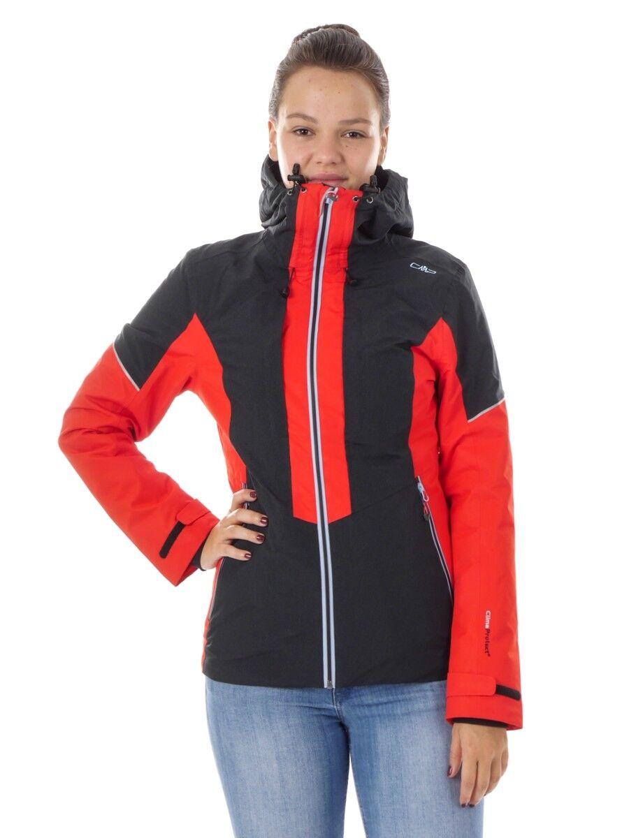 CMP Outdoorjacke Funktionsjacke Hoodie-Jacket rot warm ClimaProtect®