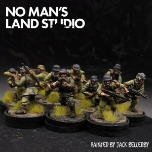 PRO PAINTED 28mm BOLT ACTION tedesco SQUADRA Pioneer × 10 Ww2 WARLORD GAMES