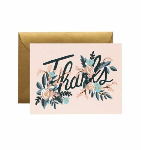 RIFLE PAPER CO Thank You Greeting Card Woodland Gift Stationery