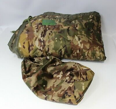 US Military Wet Weather Poncho Liner Blanket Woobie Woodland Camo IRR Grade B C