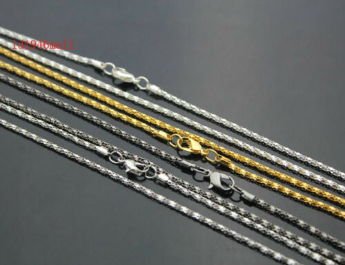"""Wholesale Lots Plated 4 Color Hollow Snake Chain Necklace With Clasp,23/"""" Pick"""
